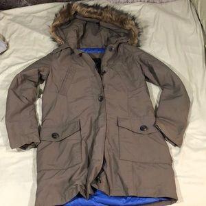 Zara Long puffer coat XS